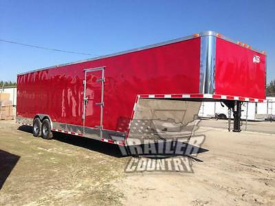New 8.5x34 8.5 X 34 Enclosed Gooseneck Cargo Car Hauler Race Trailer 26 Box