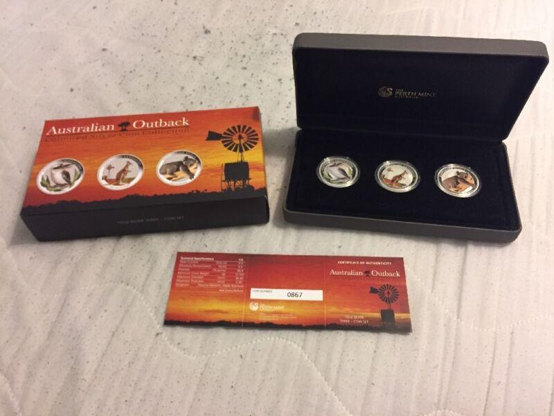 Australian Outback 2012 Coloured Silver Coin Collection