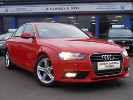 2012 Audi A4 SE TDI 134 BHP FACE LIFT MODEL 4 Door Saloon In Red