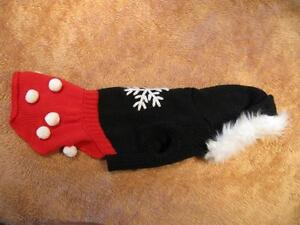 Dog Clothing - Red and Black Snowflake Dress with Hoodie Strathcona County Edmonton Area image 3