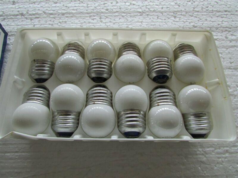 12 GE 7-1/2 Watt White Indicator Lamps D-9