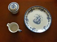 JOHNSON BROTHERS, BLUE AND WHITE, TEA OR COFFEE SET