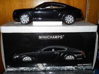 1/18 Minichamps Black Bentley Continental GT diecast