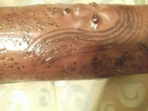 WOW !  VERY RARE  UNIQUE SCULPTED AND CARVED vase Cornwall Ontario image 5