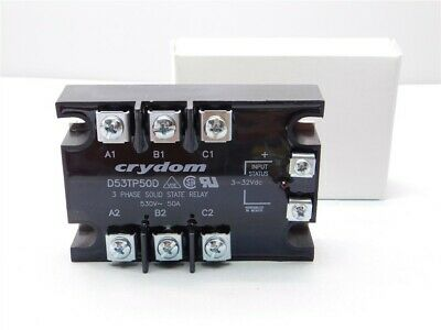 Crydom D53tp50d 3-phase 50a 530vac 3-32v Control Solid State Relay New In Box