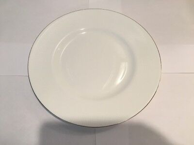 "$33. Wedgwood Vera Wang ""Blanc Sur Blanc"" 10in Plate Made In UK Bone China NW/TS"