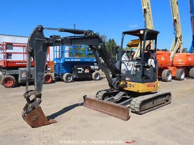 2014 John Deere 35g Mini Excavator Tractor Aux Hyd Qc Backfill Blade Bidadoo