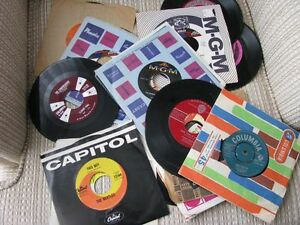 26- 45 RPM RECORDS FROM THE 60'S