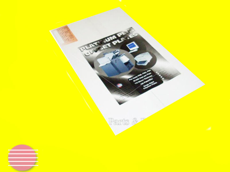 """Platinum Polyester Laser Plates 11""""x18 1/2"""" works with Xante Printers"""