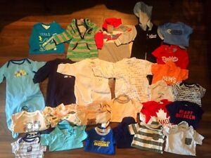 Boys size 3-6 months sleepers/onesies