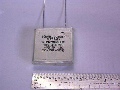 Cornell Dubilier Mlp442m050ek1c 4400uf 50v 20 Flatpack Electrolytic Capacitor