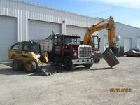 Excavator, Bobcat and Dump Truck Services