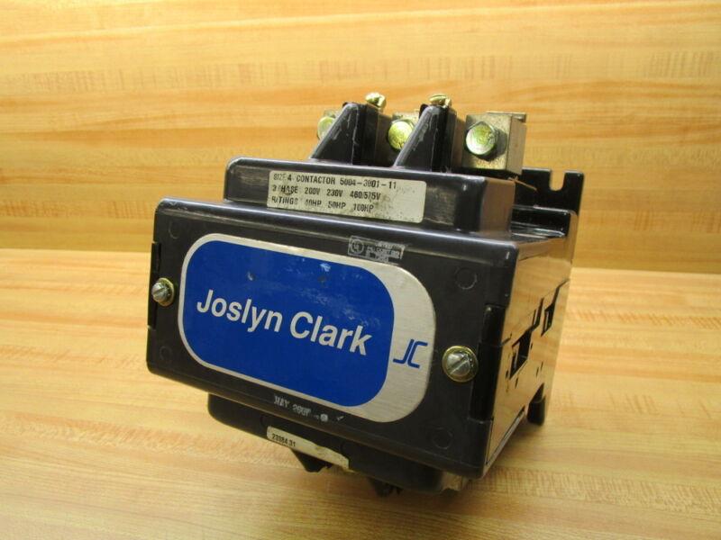 Joslyn Clark 5004-3001-11 Contactor 5004300111
