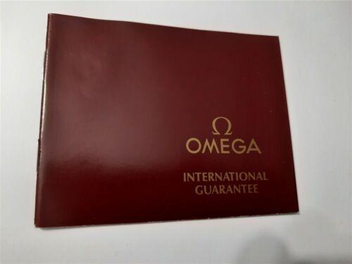 1988 OMEGA INTERNATIONAL GUARANTEE WARRANTY BOOKLET, UNUSED / UNFILLED