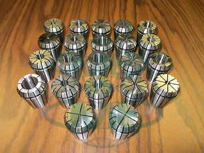 22pcsset Er32 Collet Set Complete Sizes Including All 16th 32nds --new