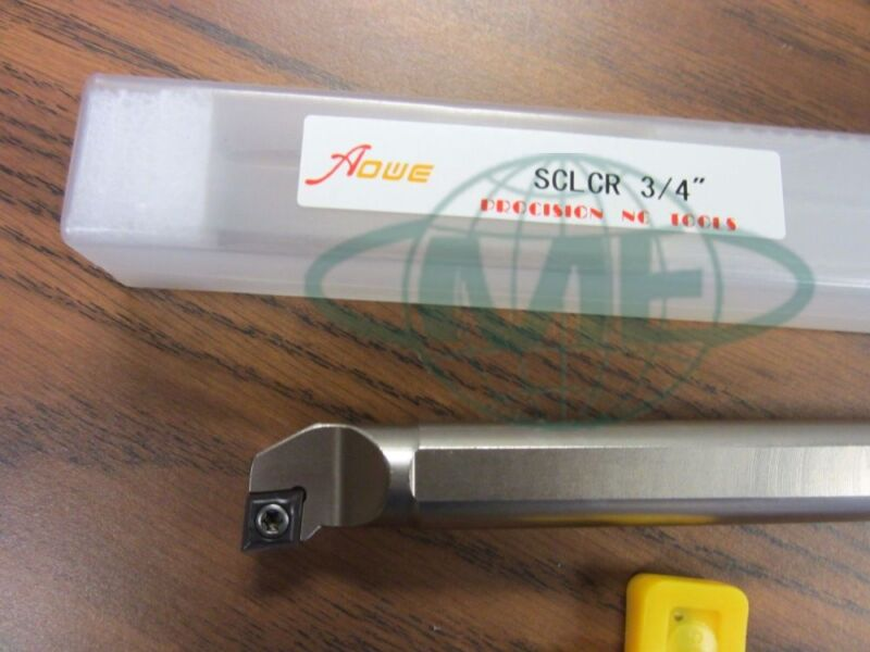 """3/4"""" Indexable Boring Bar,S-SCLCR12-3,3/4""""x10"""" OAL w.CCMT Insert,1004-IDX34-New"""