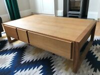 Habitat Oak Coffee Table - Hana II 6 Drawers