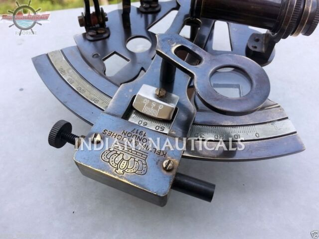 Nautical Solid Brass Sextant Vintage Marine Style Navy Sextant Ship Instrument