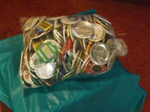 Bag of Slogan Buttons