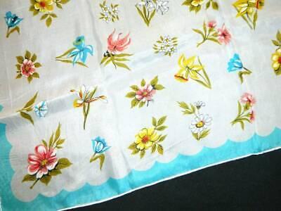 Vintage Scarf Styles -1920s to 1960s Vintage Scarf Silk Blend Japan 31