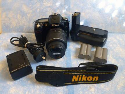 Nikon D90 with Nikon 18-55 lens and lots of accessories