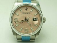Ladies Rolex Datejust Rose Pink Face, Diamond Markers