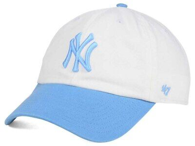 66db4fc6b6f  47 New York Yankees MLB Women s Powder Blue White Baseball CLEAN UP Cap Hat
