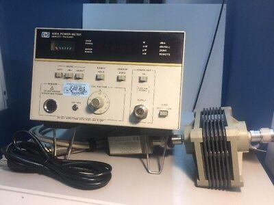 Hp 436a Power Meter Opt 022 W 8482b 25w Sensor Sensor Cable -calibrated-