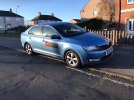 LEEDS PRIVATE HIRE TAXI 2013 SKODA RAPID 1.6 TDI SE HATCHBACK not prius avensis passat