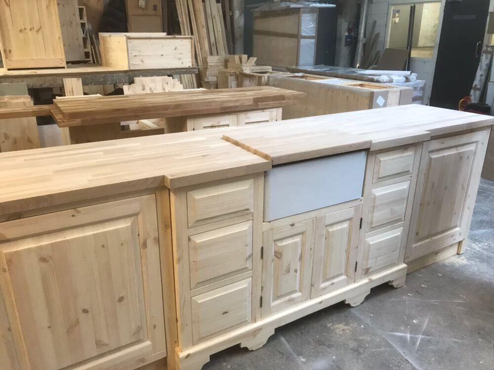 Solid Pine base unit for Belfast Sink +