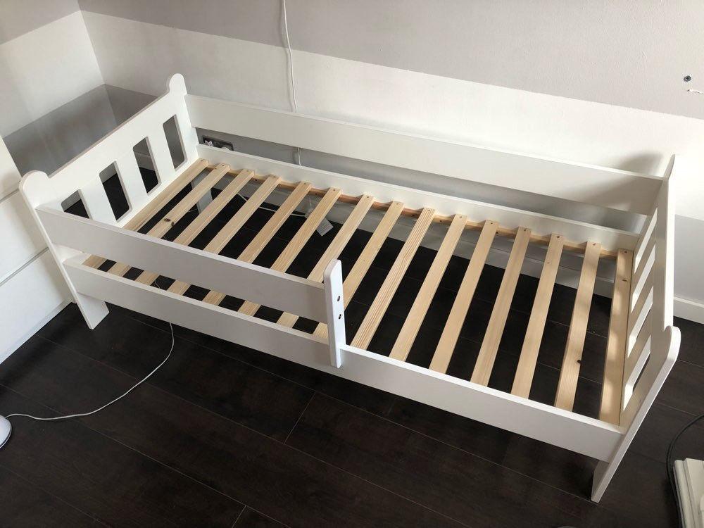 Toddler Junior Bed Frame in White for Mattress size 160cm ...