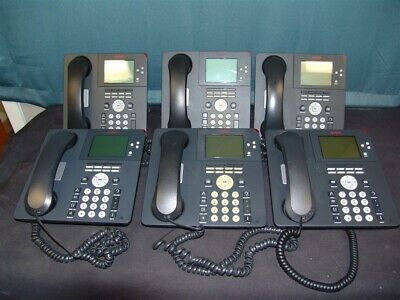 Lot Of 6 Avaya 9650 Office Ip Phones - Tested W Handsets Stands