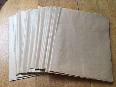 15 Large Sheets Of Brown Paper.