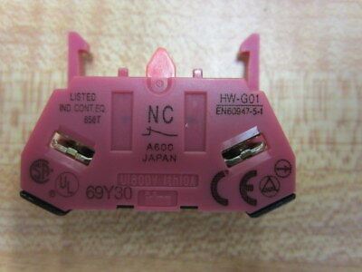 Idec Hw-g01 Contact Block Hwg01 Pack Of 3