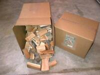 (2) 25lb boxes of chunks for smoker bbq apple cherry hickory