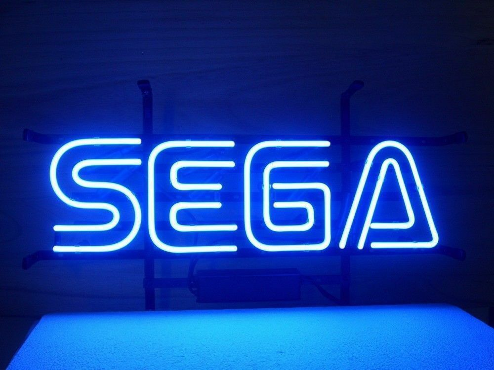 "New Sega Service Game Room Neon Light Sign 14""x10"" Wall Deco"