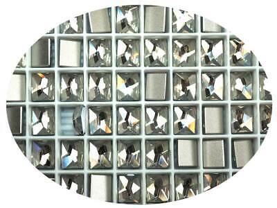 - 12 Swarovski Cosmic Rectangle Flatbacks 10x8mm Crystal Silver Shade ct # 2520