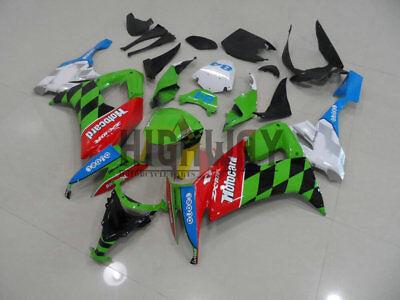 Motorcycle ABS Fairings Body Work Kits Set fit Kawasaki ZX10R 2008-2010 green