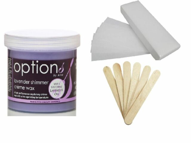 THE HIVE LAVENDER WAX 425g + 100 WAXING STRIPS + 25 SPATULAS kit paper