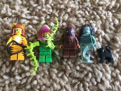 Lego Tiger Plant Banshee Ghost Cat Minifigures LOT Series 14 Monster Halloween](Lego Minifigures Series 14 Halloween)