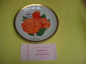 (4) AMERICAN ROSE SOCIETY COLLECTOR PLATES QUEEN ELIZABETH + London Ontario image 3