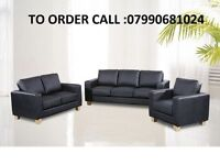 LEATHER SOFA SET 3+2 black or brown FREE DELIVERY