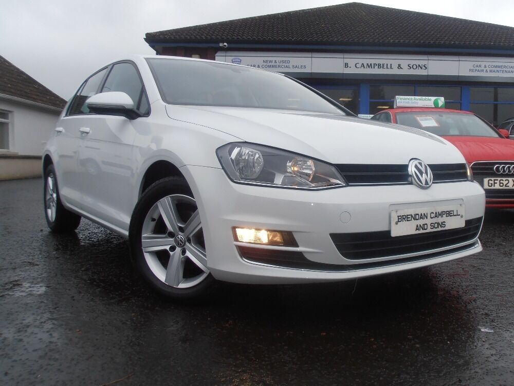 2014 Volkswagen Golf 1 6tdi Se 5 Door Hatchback In White Gt Interior