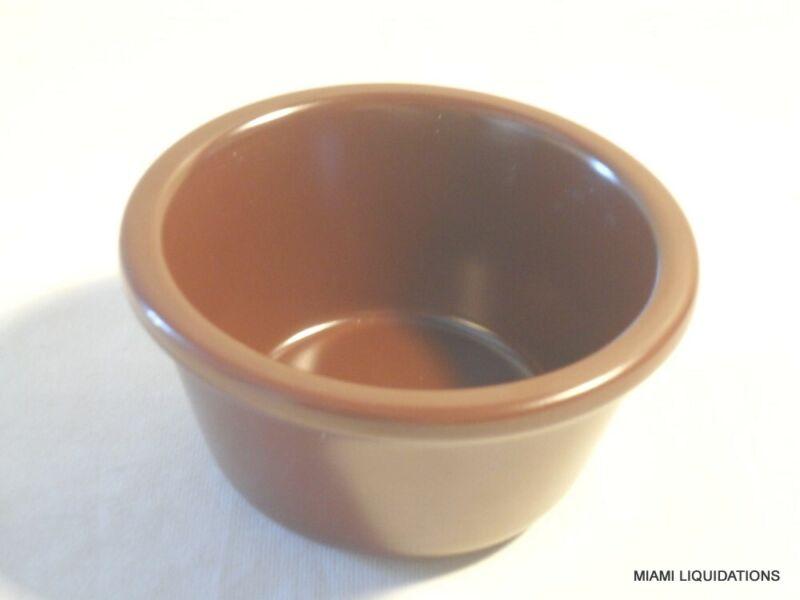 Lot of 48 4oz smooth melamine Ramekin Carlisle S28569 chocolate brown butter