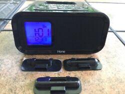 iHome iPhone Docking Station iPod Dual Alarm Clock Model # IH22 Black