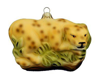 Leopard Cheetah Animal Glass Christmas Tree Ornament German Glass 012167](Leopard Christmas Ornaments)