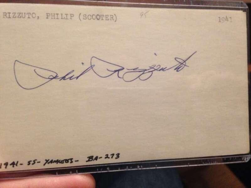 Joe DiMaggio Autographed 3 x 5 Card