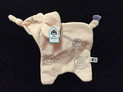 Jellycat Dreamer Elephant Cream Blanket Soother Comforter Lovey New Tot Security