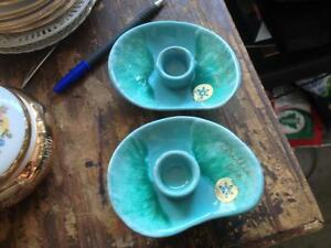 POTTERY CANDLE HOLDERS