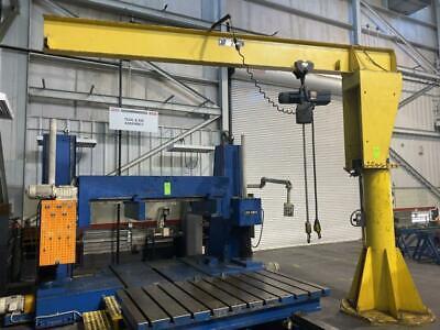 2-ton Free Standing Jib Crane 123 Under Rail X 14 Reach Demag Electric Hoist